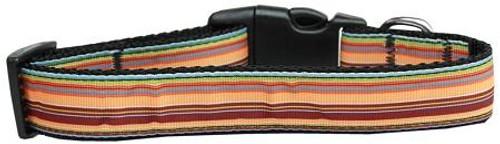 Autumn Stripes Nylon Dog Collar Medium
