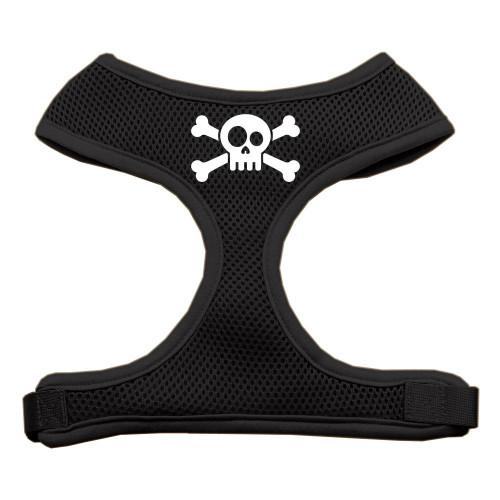 Skull Crossbones Screen Print Soft Mesh Harness Black Small