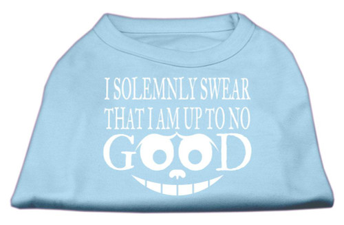 Up To No Good Screen Print Shirt Baby Blue Xs (8)