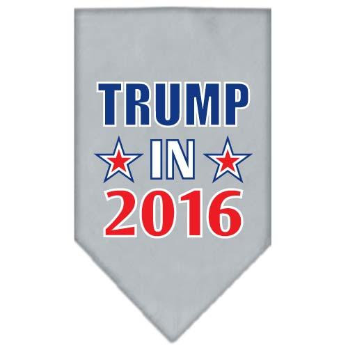Trump In 2016 Election Screenprint Bandanas Grey Small