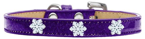 Snowflake Widget Dog Collar Purple Ice Cream Size 16