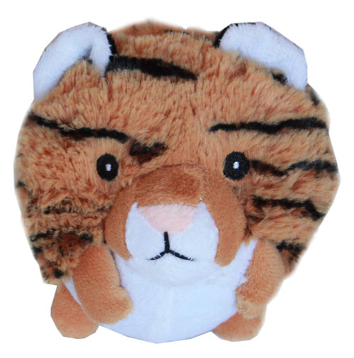 Roundimal Squeaky Dog Toy Tiger