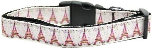 Eiffel Tower Nylon Dog Collars Medium
