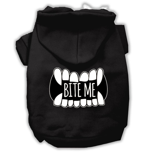 Bite Me Screenprint Dog Hoodie Black Xs (8)
