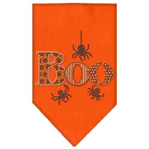 Boo Rhinestone Bandana Orange Large