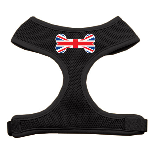 Bone Flag Uk Screen Print Soft Mesh Harness Black Extra Large