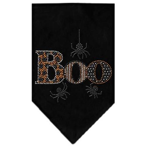 Boo Rhinestone Bandana Black Large