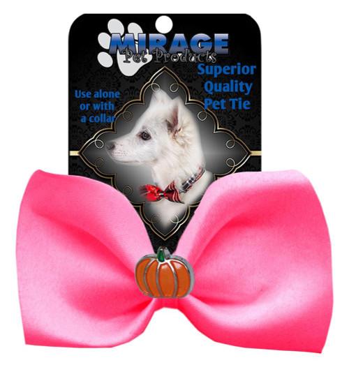Pumpkin Widget Pet Bowtie Hot Pink