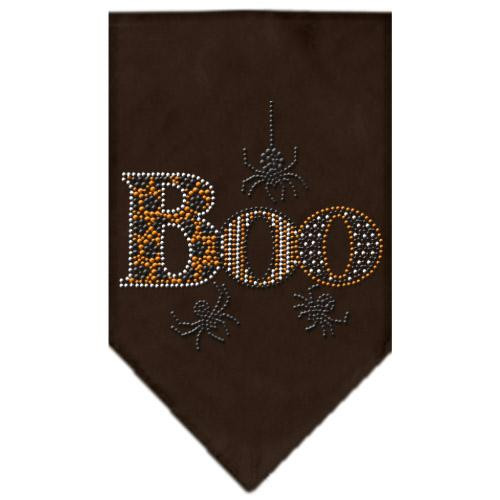 Boo Rhinestone Bandana Brown Large