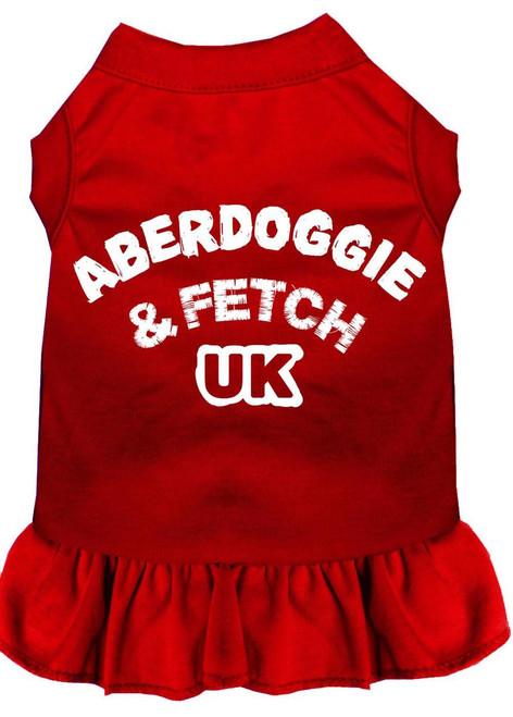 Aberdoggie Uk Screen Print Dress Red Xxxl (20)
