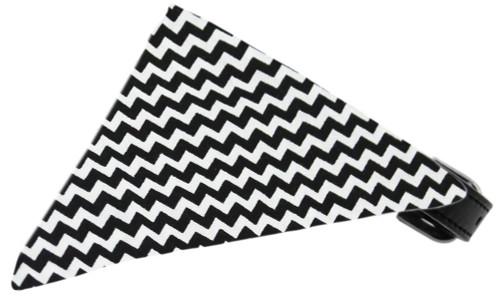 Black Chevron Bandana Pet Collar Black Size 10