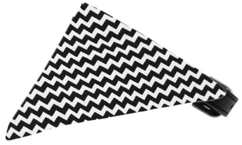 Black Chevron Bandana Pet Collar Black Size 16