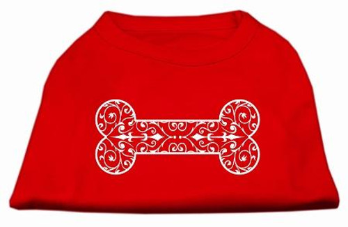 Henna Bone Screen Print Shirt Red Lg (14)