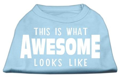 This Is What Awesome Looks Like Dog Shirt Baby Blue Sm (10)