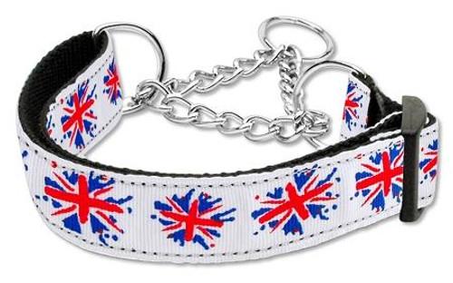 Graffiti Union Jack(uk Flag) Nylon Ribbon Collar Martingale Large