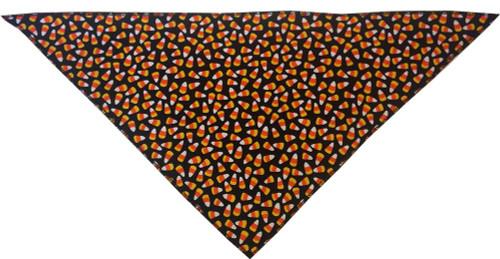 Candy Corn Tie-on Pet Bandana Size Large