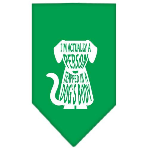 Trapped Screen Print Bandana Emerald Green Large