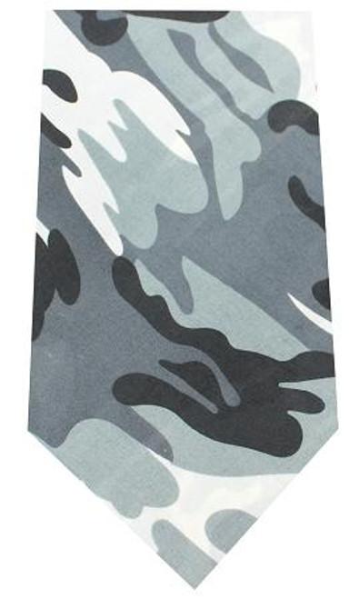 Plain Patterned Bandana Grey Camo