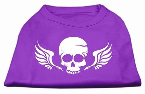 Skull Wings Screen Print Shirt Purple Med (12)