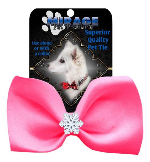 Snowflake Widget Pet Bowtie Hot Pink
