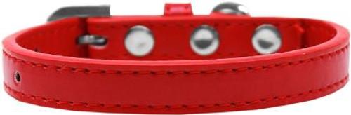 Wichita Plain Dog Collar Red Size 10