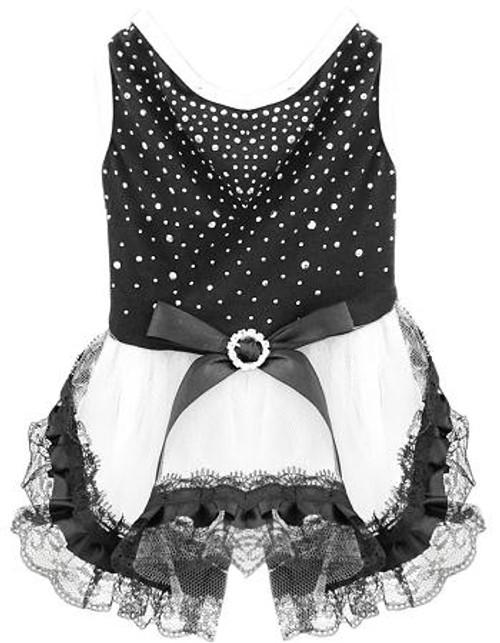 Premium Rhinestone Dress Small Black