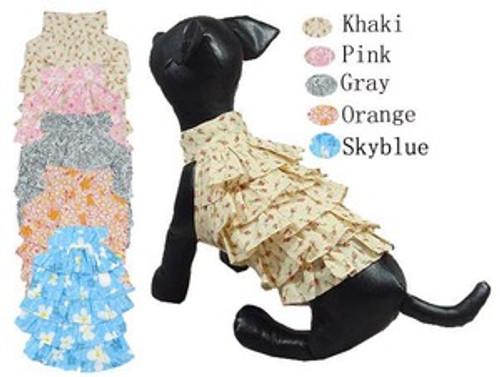Little Flower Design Puffled Dress