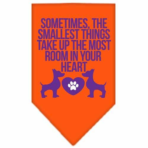 Smallest Things Screen Print Bandana Orange Large