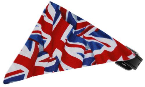 Union Jack(british) Flag Bandana Pet Collar Black Size 16