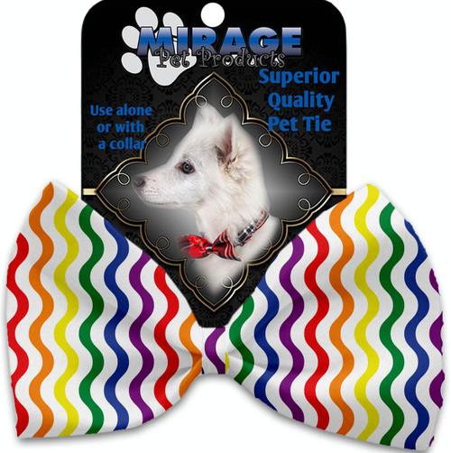Rainbow Fun Stripes Pet Bow Tie