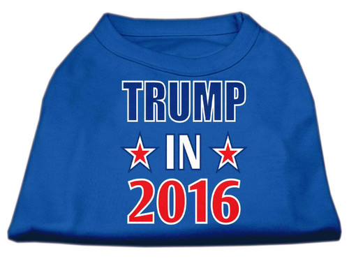 Trump In 2016 Election Screenprint Shirts Blue Lg (14)