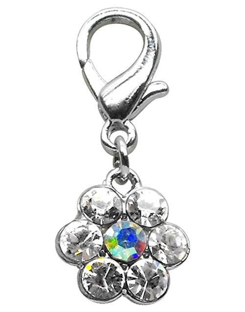 Lobster Claw Flower Charm Clear - 11-07 CL