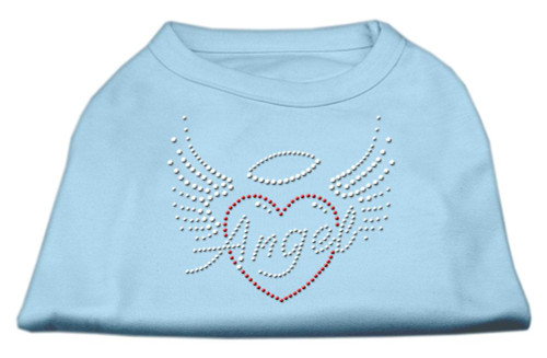 Angel Heart Rhinestone Dog Shirt Baby Blue Lg (14)
