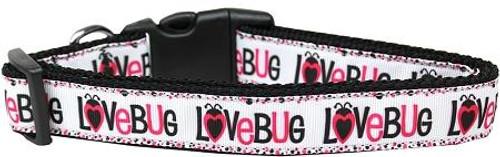 Love Bug Nylon Dog Collar Medium