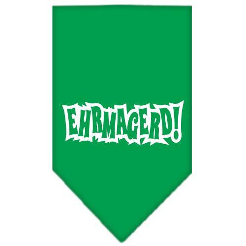 Ehrmagerd Screen Print Bandana Emerald Green Small