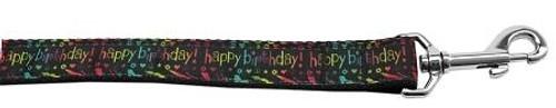 Happy Birthday Nylon Dog Leash 4 Foot
