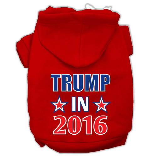 Trump In 2016 Election Screenprint Pet Hoodies Red Size L (14)