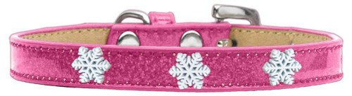 Snowflake Widget Dog Collar Pink Ice Cream Size 14