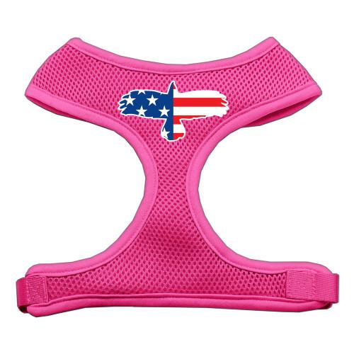 Eagle Flag  Screen Print Soft Mesh Harness Pink Large