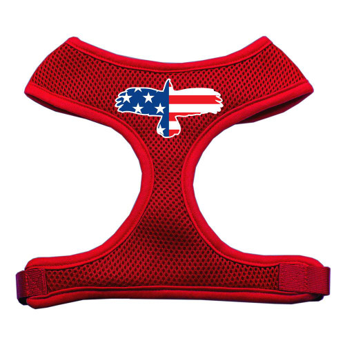 Eagle Flag  Screen Print Soft Mesh Harness Red Large