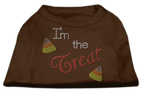 I'm The Treat Rhinestone Dog Shirt Brown Xs (8)