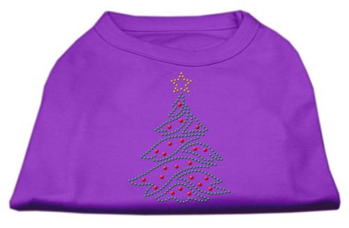 Christmas Tree Rhinestone Shirt Purple S (10)