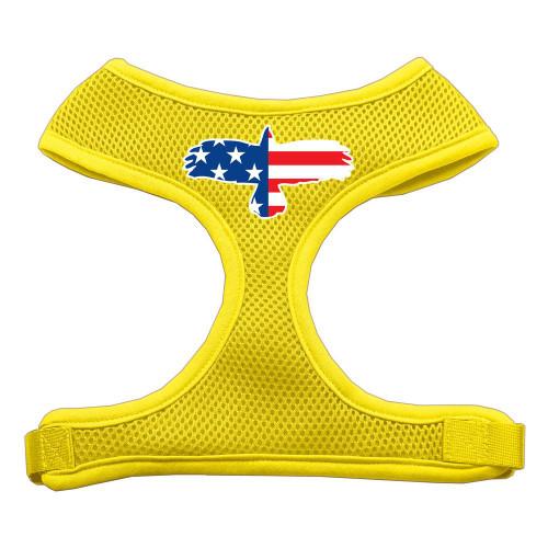 Eagle Flag  Screen Print Soft Mesh Harness Yellow Large