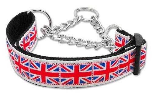 Tiled Union Jack(uk Flag) Nylon Ribbon Collar Martingale Large