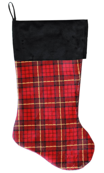 Red Plaid Christmas Stocking