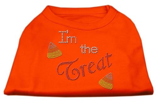 I'm The Treat Rhinestone Dog Shirt Orange Xs (8)