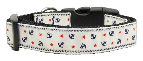 Anchors Nylon Ribbon Collar White Large