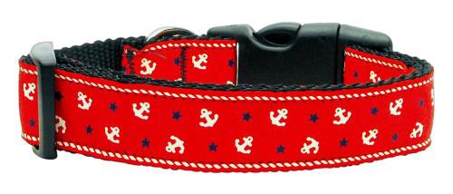 Anchors Nylon Ribbon Collar Red Large