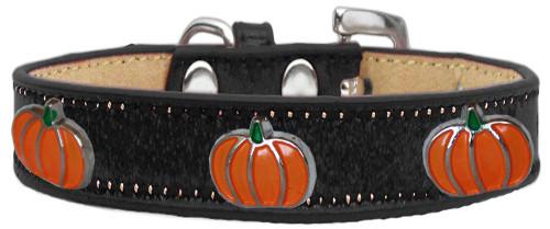Pumpkin Widget Dog Collar Black Ice Cream Size 16