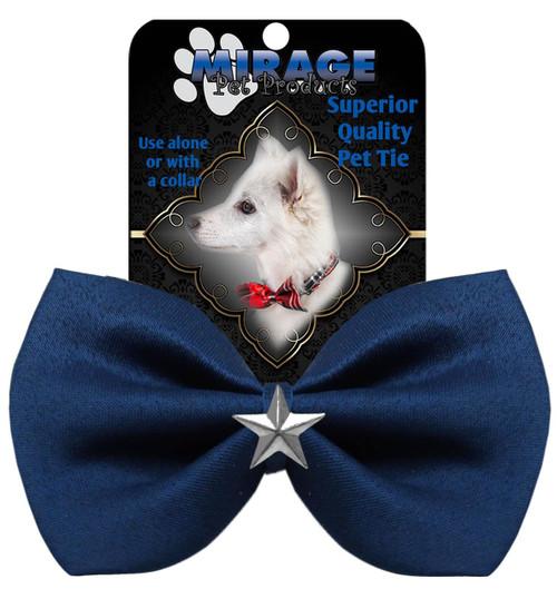 Silver Star Widget Pet Bowtie Navy Blue